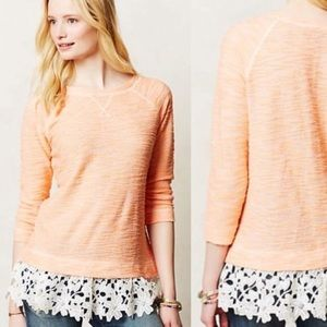 Sunday in Brooklyn Citrus Lace Pullover Sweater